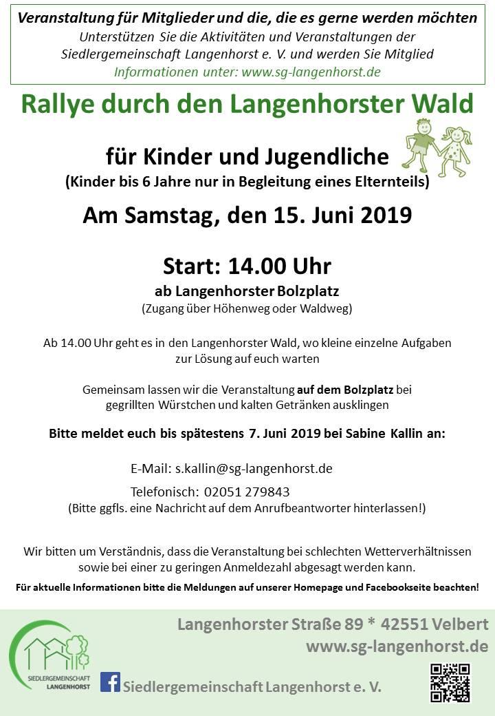 Kinder-Rallye durch den Langenhorst @ Siedlergemeinschaft Langenhorst e. V.