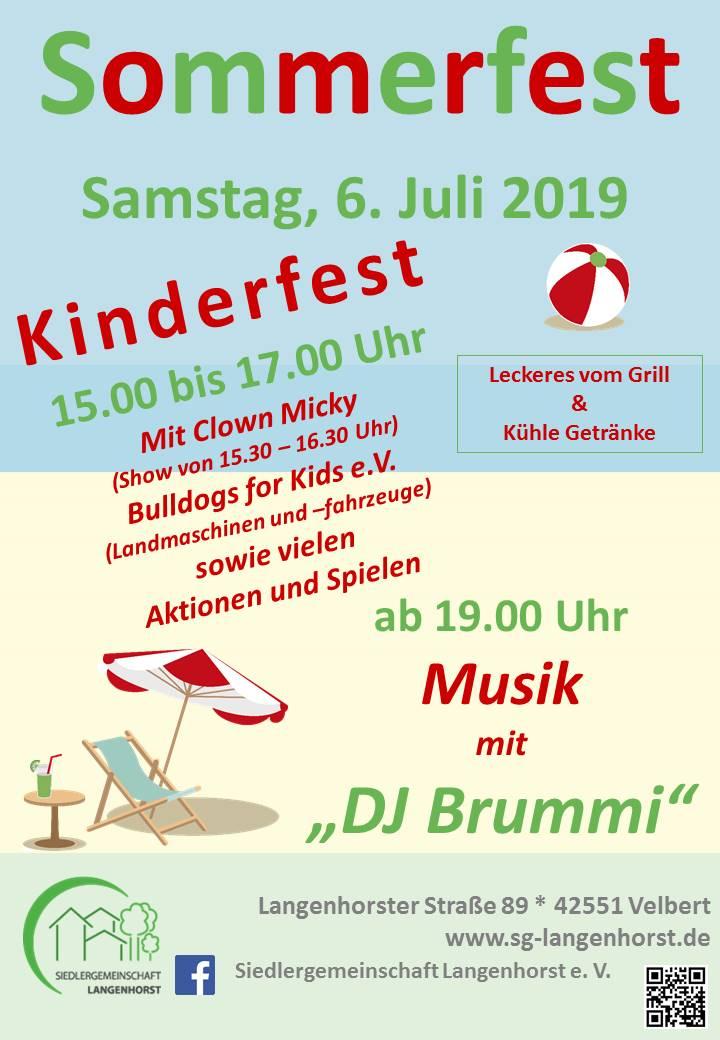 Kinder- und Sommerfest @ Siedlergemeinschaft Langenhorst e. V.