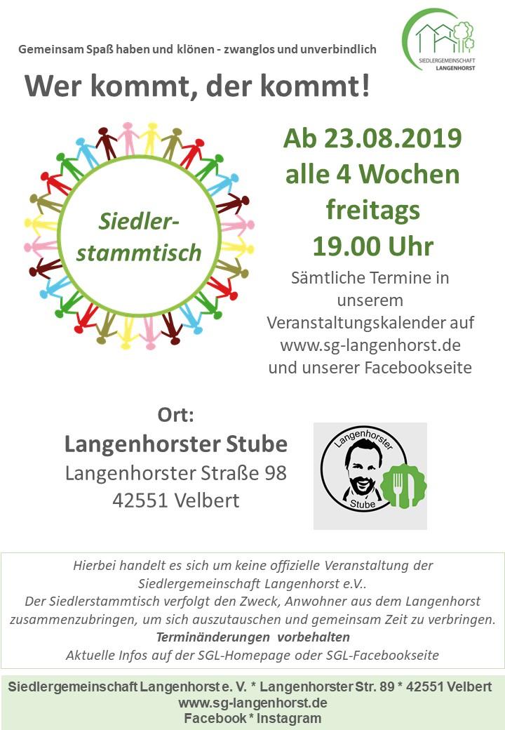 Siedlerstammtisch in der Langenhorster Stube @ Langenhorster Stube