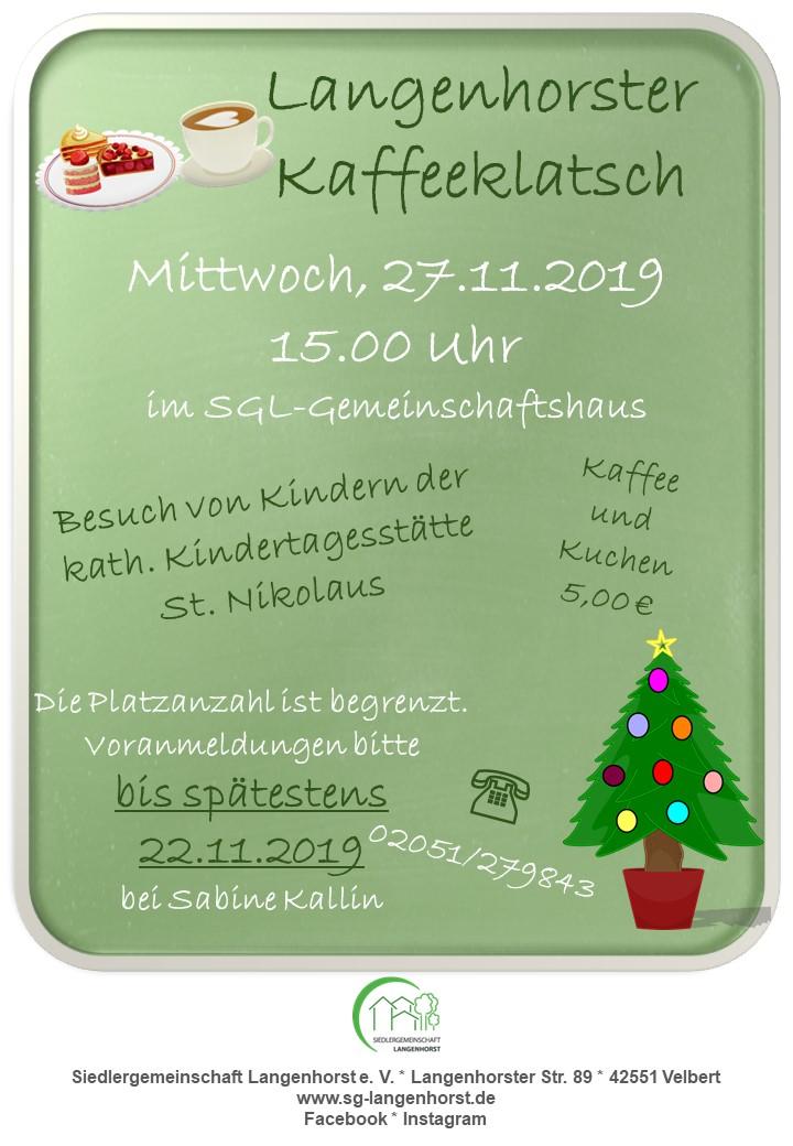 """""""Langenhorster Kaffeeklatsch"""" @ Siedlergemeinschaft Langenhorst e.V."""